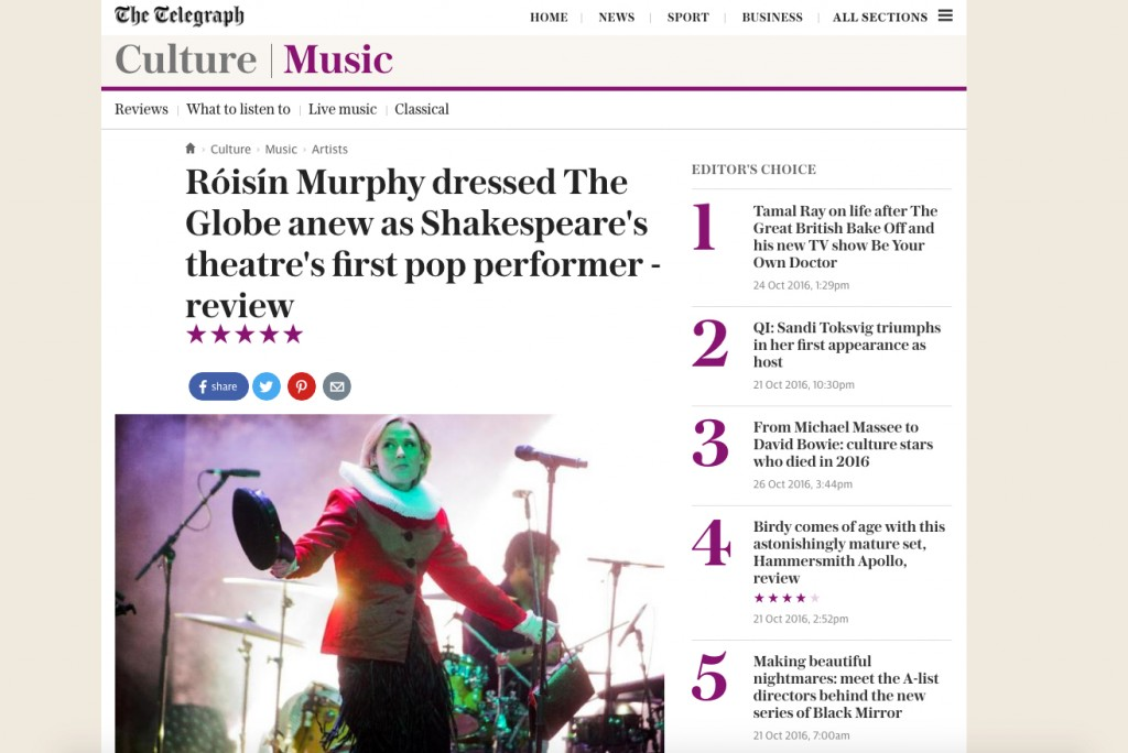 roisin-globe-telegraph-review
